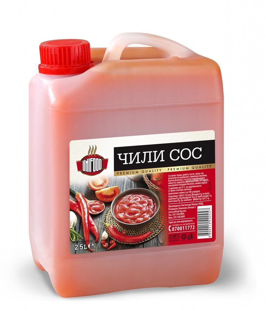 Чили сос Уни-Фуд 2.5л.
