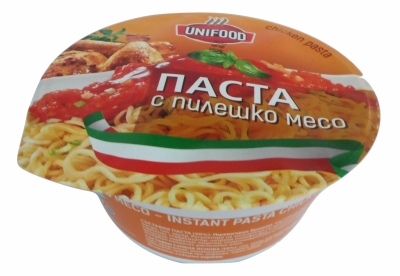 Готова Паста с пилешко месо и доматен сос