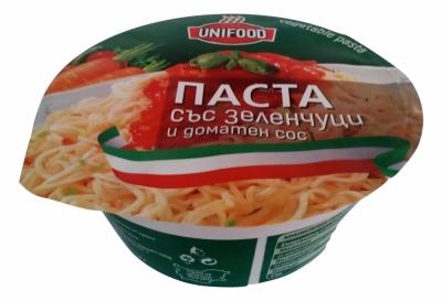Готова Паста със зеленчуци и доматен сос