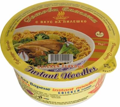 Готови спагети купа с вкус на пилешко 75гр. Уни-Фуд