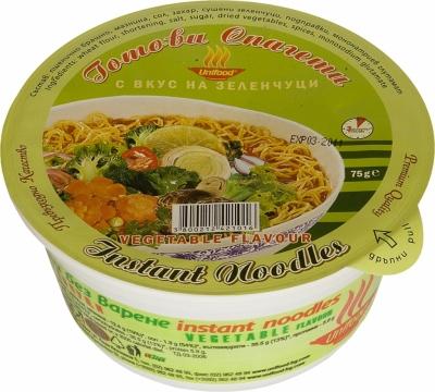 Готови спагети купа с вкус на зеленчуци 75гр. Уни-Фуд