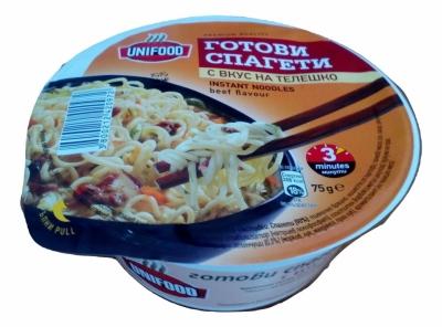 Готови спагети купа с вкус на телешко 75гр. Унифуд
