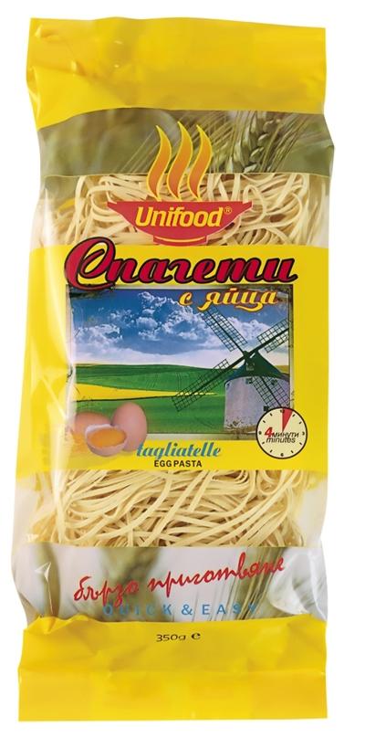 Сушени спагети с яйца
