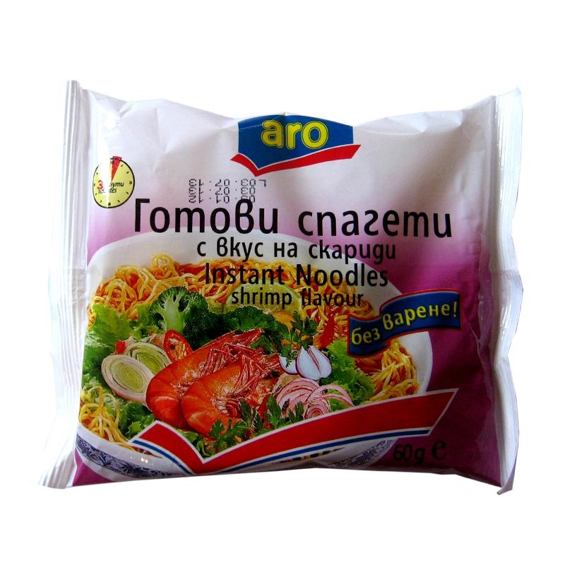 Готови спагети с вкус на скариди ARO 60гр.