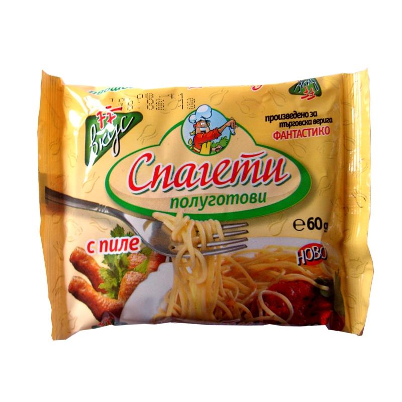 Готови спагети с вкус на пиле Фантастико 60гр.
