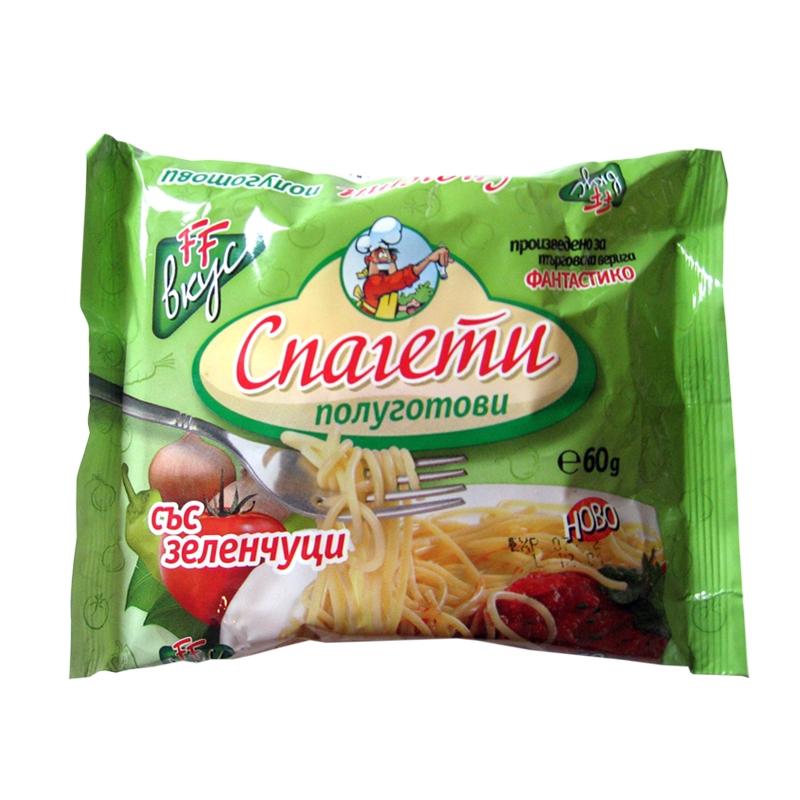 Готови спагети с вкус на зеленчуци Фантастико 60гр.