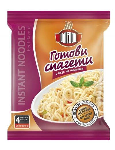 Сушени готови спагети с вкус на телешко 70 гр.