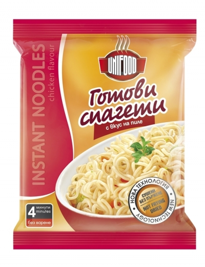 Сушени готови спагети с вкус на пиле 70 гр.