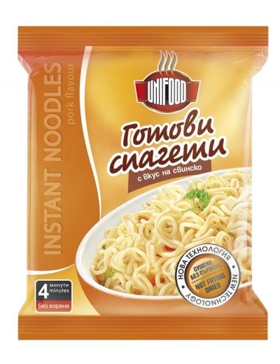 Сушени готови спагети с вкус на свинско 70 гр.