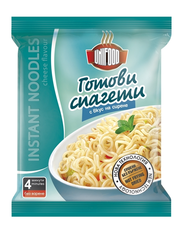 Сушени готови спагети с вкус на сирене 70 гр.