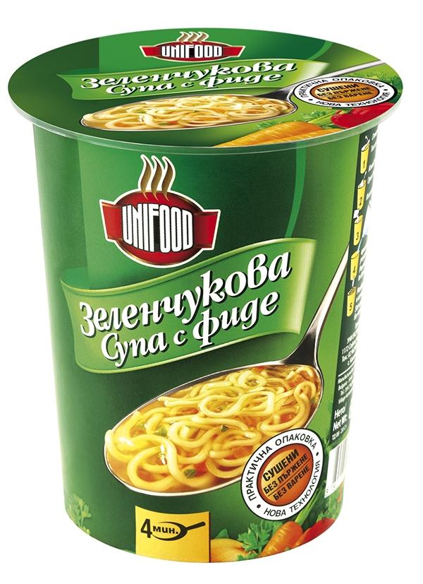 Супа зеленчукова с фиде 60 гр.