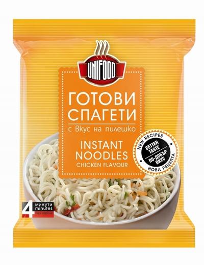 Готови спагети с вкус на пиле УНИ ФУД  70 гр. NEW