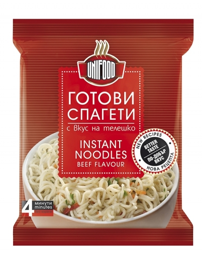 Готови спагети с вкус на телешко Уни-Фуд  70 гр. NEW