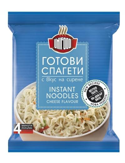 Готови спагети с вкус на сирене Уни-Фуд 70 гр. NEW
