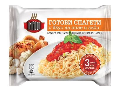 Instant Noodles with chicken and mushrooms flavour